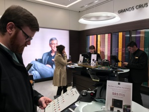 Jared buying coffee